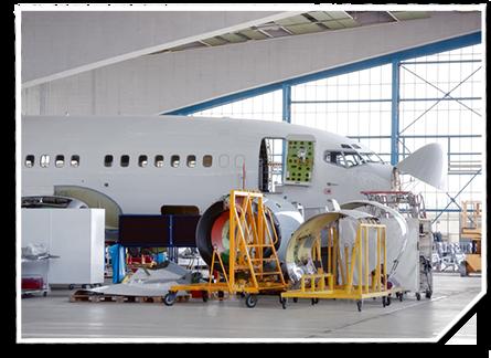 Flächen für den Flugzeugbau